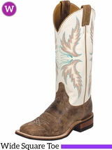 Women's Justin Ivory Cowhide Bent Rail� Boots BRL336