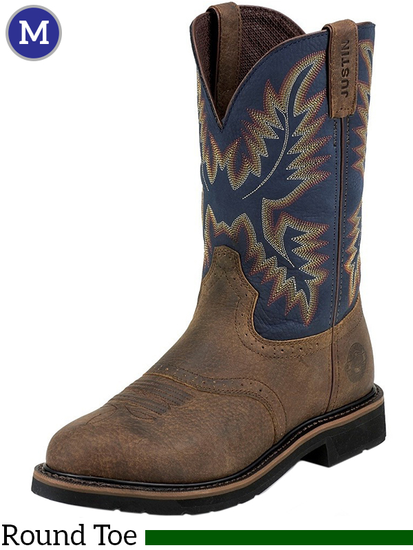 Men S Justin Copper Kettle Rowdy Stampede Boots Wk4665