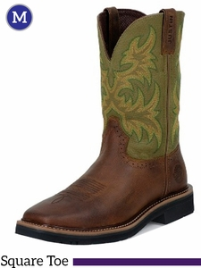 Justin Waxy Brown Cowhide Stampede Collection Boots WK4687