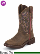 Justin Women's Brown Buffalo Waterproof Gypsy Boots L9608