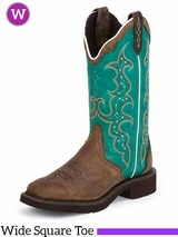 Justin Women's Brown Cowhide Gypsy Boots L2904