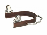 Kelly Silver Star Antique Brown Sidewinder Bumper Spurs