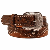 Ladies Ariat Brown Embossed Leather Belt A1520202