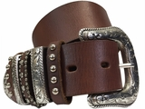 Ladies Multikeeper Dark Brown Belt by Nocona N3493702