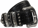 Ladies Nocona Croc Multikeeper Belt n3493601