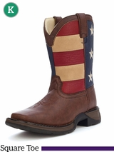 "Lil' Durango Kid's 8"" Brown/Flag Boot BT245"
