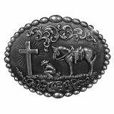 Nocona Cowboy Prayer Buckle 37374