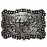 Nocona Rectangle Praying Cowboy Belt Buckle 3759059