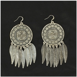 Blazin Roxx Silver Dreamcatcher Earrings 30504