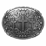 Western Products Three Cross Belt Buckle 37980