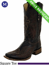 Men's Corral Distressed Brown Wing & Cross Boots A1978 CLEARANCE
