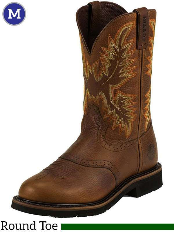 Men S Justin Sunset Cowhide Stampede Boots 4655