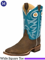 Men's Justin Caddo Blue Boots BR742