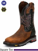 Men's Justin Reddish Waxy Milled Buffalo Commander-X5� Work Boots WK2104