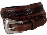 Men's Top Hand Ranger Arrow Laced Brown Belt 2476802