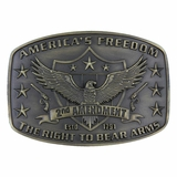 Montana Silversmiths 2nd Amendment Heritage Attitude Buckle A272