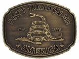 Montana Silversmiths American Gadsden Don't Tread on Me Heritage Attitude Buckle A515C