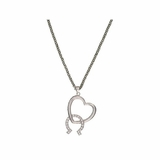 Montana Silversmiths Hooked On You Horseshoe & Heart Necklace NC1356CZ
