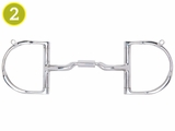 Myler Dee with Hooks with Stainless Steel Low Port Comfort Snaffle 89-22045