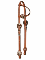 One Eared Slip Headstall Brown Iron Star by Circle Y 0162-3504