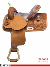"PRICE REDUCED! 12"" Nash Leather Wide Polyride Barrel Saddle 412, Floor Model"