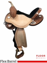 "PRICE REDUCED! 14.5"" Circle Y Kelly Kaminski Blaze Wide Flex2 Barrel Saddle 1528, Floor Model"