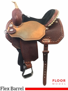 "PRICE REDUCED! 14"" Circle Y Lisa Lockhart Ambition Wide Flex2 Barrel Saddle 1550, Floor Model"