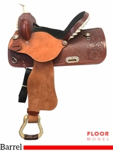 "PRICE REDUCED! 14"" Nash Leather Wide Polyride Barrel Saddle 440, Floor Model"
