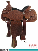 "PRICE REDUCED! 14"" Billy Cook Wide Roping Saddle 2056, Floor Model"