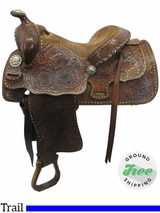 """SOLD ON LAYAWAY 2017/09/05  14"""" Used Billy Cook Wide Vintage Trail Saddle usbi3518 *Free Shipping*"""