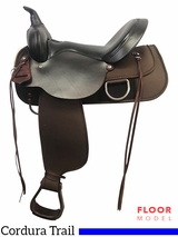 "PRICE REDUCED! 15"" High Horse Lockhart Wide Trail Saddle 6910, Floor Model"