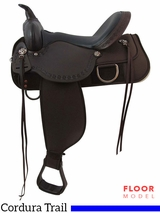 "SOLD 2016/04/07 PRICE REDUCED! 15"" High Horse Magnolia Wide Trail Saddle 6909, Floor Model"
