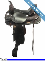"PRICE REDUCED! 15"" High Horse Mineral Wells Wide Trail Saddle 6812, Floor Model"