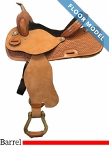 "PRICE REDUCED! 15"" Nash Leather Wide Barrel Saddle 3600, Floor Model"