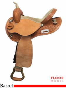 "PRICE REDUCED! 15"" Nash Leather Wide Polyride Barrel Saddle 304019, Floor Model"