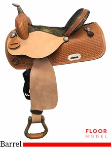 "SOLD 2017/08/14  PRICE REDUCED! 15"" Nash Leather Wide Polyride Barrel Saddle 308019, Floor Model"