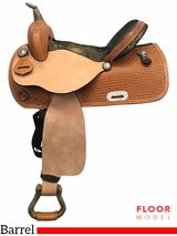 "15"" Nash Leather Wide Polyride Barrel Saddle 308019, Floor Model"