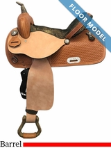 "PRICE REDUCED! 15"" Nash Leather Wide Barrel Saddle 308019, Floor Model"