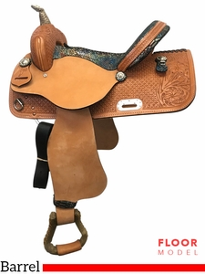 "PRICE REDUCED! 15"" Nash Leather Wide Polyride Barrel Saddle 4429, Floor Model"