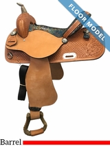 "PRICE REDUCED! 15"" Nash Leather Wide Barrel Saddle 4429, Floor Model"