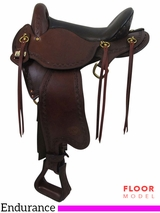 "** SALE ** PRICE REDUCED! 16"" Big Horn Small Hands 2 Sil-Cush Skirt Endurance Saddle 1676"