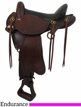 "16"" Big Horn Small Hands 2 Sil-Cush Skirt Endurance Saddle 1676"