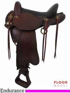 "PRICE REDUCED! 16"" Big Horn Small Hands 2 Sil-Cush Skirt Endurance Saddle 1676"