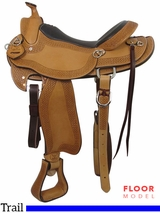 "PRICE REDUCED! 16"" Big Horn Texas Ranger Trail Saddle 937, Floor Model"