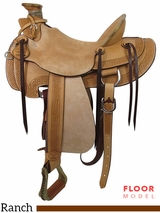 "** SALE ** PRICE REDUCED! 15"" Big Horn Wade Ranch Trail Saddle 867"