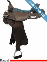 "PRICE REDUCED! 16"" Big Horn Wide Barrel Saddle 1516, Floor Model"