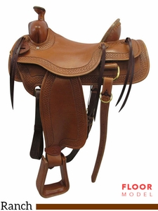 "PRICE REDUCED! 16"" Big Horn Wide Ranch Saddle 1609"