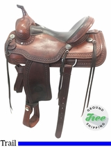 "16"" Used Billy Cook Trail Saddle 1777 usbi3807 *Free Shipping*"