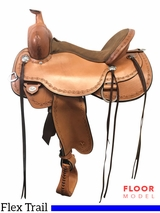 "PRICE REDUCED! 16"" Circle Y Alpine Wide Flex2 Trail Saddle 2377, Floor Model"