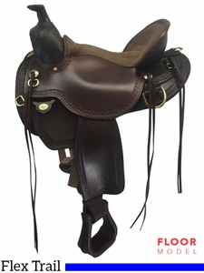 "PRICE REDUCED! 16"" Circle Y Elk Ridge Medium Flex2 Trail Saddle 1156, Floor Model"